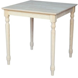 INC International Concepts Solid Wood Top Table, Turned Legs