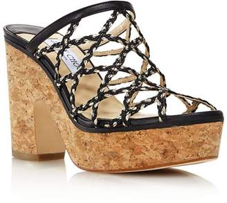 e8a25c3117a Jimmy Choo Women s Dalina Caged Platform Sandals