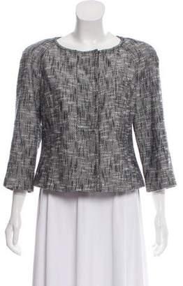 Magaschoni Tweed Long Sleeve Jacket