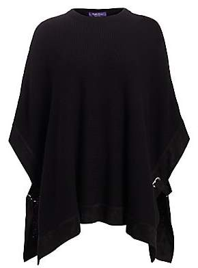 Ralph Lauren Women's Cashmere Knit Belt Poncho