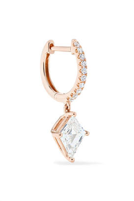 Anita Ko Huggie 18-karat Rose Gold Diamond Earring - one size