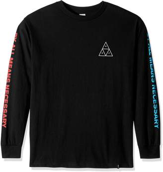 HUF Men's Multi Triple Triangle Ls Tee