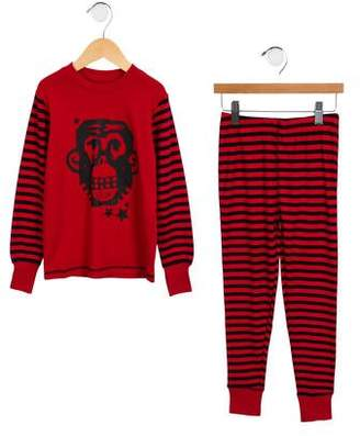 Deux Par Deux Boys' Striped Pajama Set w/ Tags