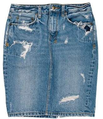 Ksubi Distressed Denim Skirt