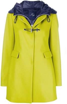 Fay hood layered coat
