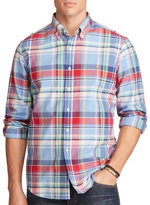 Polo Ralph Lauren Big and Tall Plaid Oxford Shirt