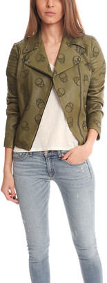 Lucien Pellat-Finet Perforated Skull Leather Jacket