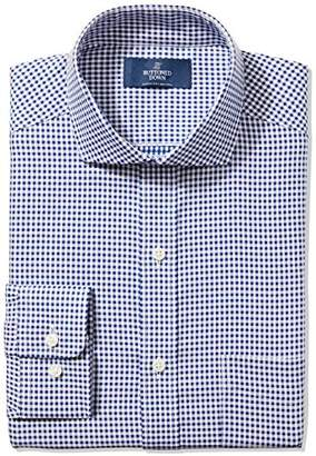 Buttoned Down Men's Classic Fit Cutaway-Collar Pattern Non-Iron Dress Shirt