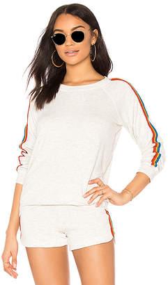 Monrow Rainbow Stripe Pullover