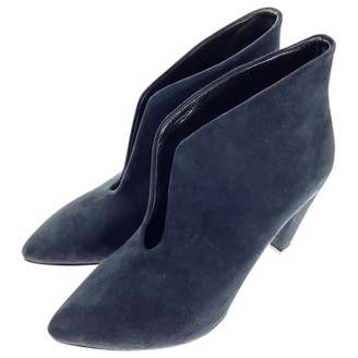 Anine Bing Navy Suede Ankle boots