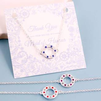 XOXO J&S Jewellery Bridesmaid Circle Birthstone Bracelet
