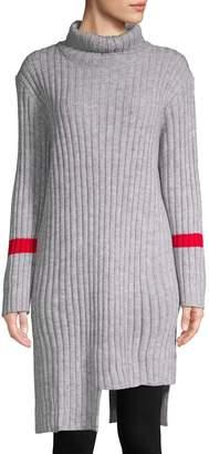Avantlook Asymmetric Turtleneck Sweater Dress