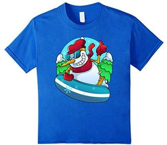 Snowboarding Snowman Funny Winter Tee Shirt