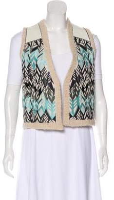 Zadig & Voltaire Leather-Trimmed Alpaca-Blend Vest w/ Tags
