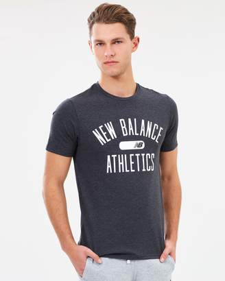 New Balance Short Sleeved Heather Tech Tee