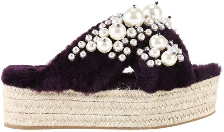 MIU MIU Wedge Shoes Shoes Women Miu Miu