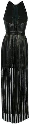 Just Cavalli strap panel dress