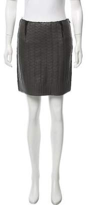 Lanvin Leather Mini Skirt