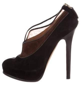 Fendi Suede High-Heel Booties