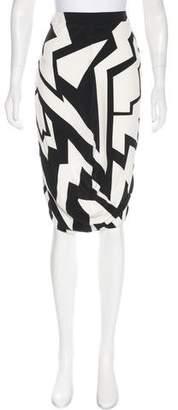 Tom Ford Silk Chevron Skirt