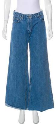 Magda Butrym Mid-Rise Wide-Leg Jeans