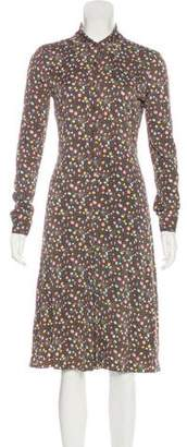 Diane von Furstenberg Silk Button-Up Midi Dress