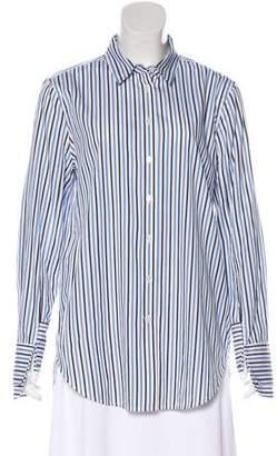 Equipment Stripe Button-Up Top