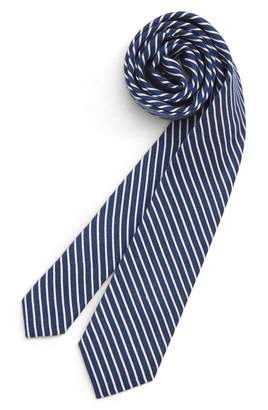 Nordstrom Stripe Silk & Cotton Blend Tie