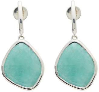Monica Vinader Silver Amazonite Large Nugget Earrings