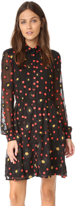 alice + olivia Enid Button Down Shirtdress $495 thestylecure.com
