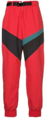 Facetasm contrast stripe track pants