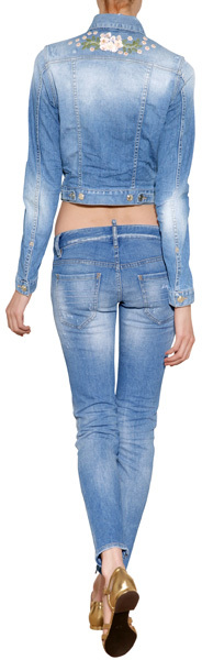 DSquared Dsquared2 Embroidered Denim Jacket