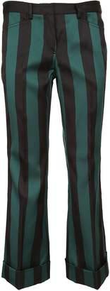N°21 N.21 Striped Cropped Trousers