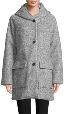 "London Fog THE COAT EDIT 32"" Wool Cozy Coat"