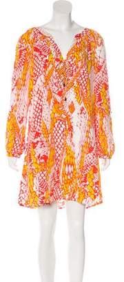 Hale Bob Printed Mini Dress w/ Tags