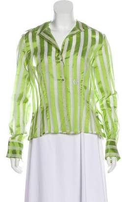 Gianfranco Ferre Silk Striped Top