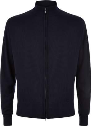 John Smedley Easy Fit Merino Wool Zip-Through Sweater