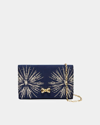Ted Baker STARLA Stardust bow evening bag