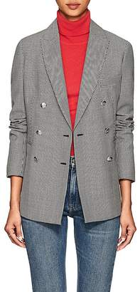 Barneys New York Women's Houndstooth Wool-Mohair Double-Breasted Blazer