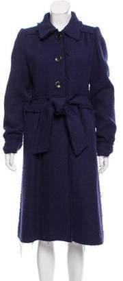 Marc Jacobs Longline Raw-Edge Coat