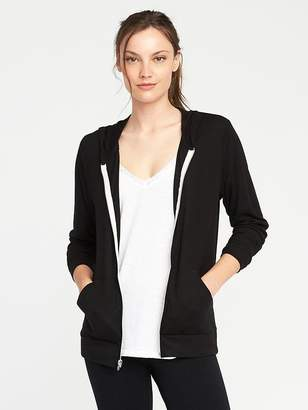 Lightweight Jersey Zip Hoodie for Women $24 thestylecure.com