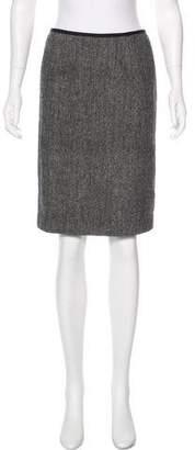 Herve Leger Wool Mini Skirt
