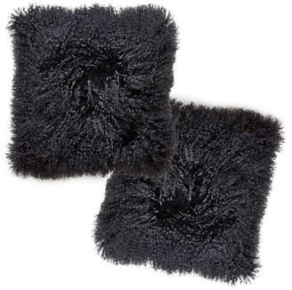Jonathan Adler Black Mongolian Pillow Set