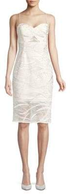 Aidan Mattox Textured Knee-Length Sheath Dress