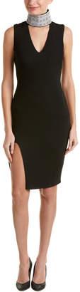 Sheri Bodell Stretch Collar Slit Front Dress