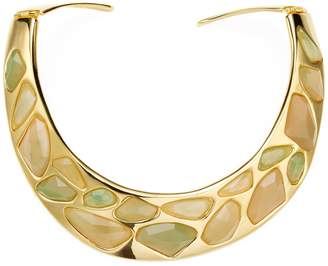Kenneth Jay Lane Women's Polished Yellow Gold & Jade Faceted Stones Bib Necklace