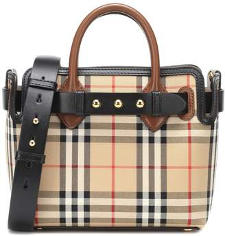 Burberry The Belt Mini Check canvas tote