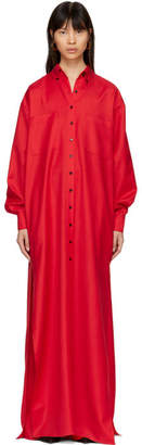 Kwaidan Editions Red Floor-Length Shirt Dress