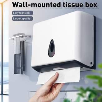 Bestller Commercial Paper Hand Towel Dispenser,Wall-Mounted Bathroom Paper Towel Dispenser Tissues Box Holder Hand Towel Dispenser