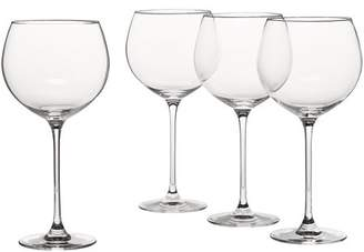 Lenox Tuscany Classics Grand Beaujolais, Set of 4, Wine Pinot Old Pilsners Champagne 857764 Beaujolais Whiskey Stemmed Pierced 13 Dishwasher Assorted.., By Ship from US